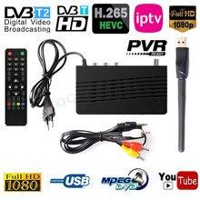 Europa 10bit HEVC DVB T2 H.265 Broadcast Tuner DVB T2 Konverter Box HEVC 265 TV Decoder Digital TV Box Terrestrischen rezeptor