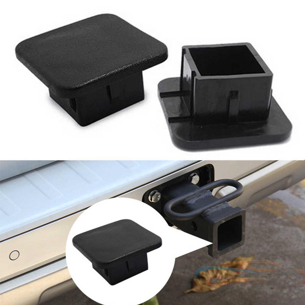 Plug Hitch Penutup Tabung Mobil Square Aksesoris Karet Tahan Lama Receiver Mudah Menginstal Cap Pelindung Hitam Trailer Universal