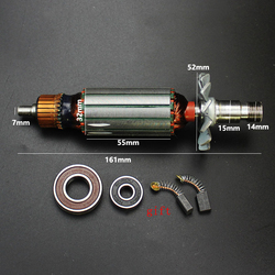 AC220-240V Armature Rotor Anchor Stator Replace for Makita 3703 Trimming Machine Motor Power Tool Repair Spare Parts