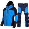 Men's Waterproof Hiking Jacket Suit Fleece Softshell Jacket and Pants Outdoor Trekking Camp Coat Set Pants Climb Skiing Trousers