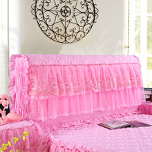 Full Wrap Bedside Cover Lace Cotton Clamping Thickened Leather Soft Bag Dustproof Over Protective