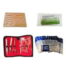 Kit de formation de Suture peau opérer Suture modèle de pratique coussin d'entraînement aiguille ciseaux trousse à outils enseignement
