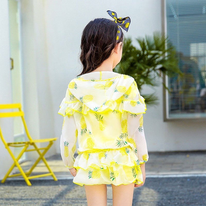 Girl'S Swimsuit 2019 Summer Big Boy Girls' Princess Skirt-Hot Springs Swimwear Baby South Korea Cute New Style