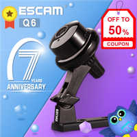 ESCAM Q6 Mini 720P WiFi IP Camera Wireless Home Surveillance Security Camera CCTV Camara Baby Monitor 2-way Audio