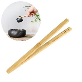 Hot 1 2 sztuk Bamboo szczypce do żywności naczynia kuchenne w formie bufetu narzędzia kuchenne szczypce do pieczywa odporne na wysokie temperatury ciasto szczypce grill szczypce kuchenne tanie i dobre opinie CN (pochodzenie) Ekologiczne Zaopatrzony Ce ue HXH483 TONGS