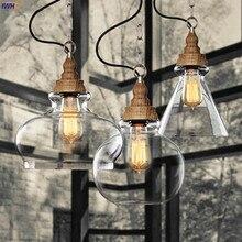 木製ロフトスタイルヴィンテージ工業用ペンダント照明レトロランプエジソン電球、 Lamparas Lustres E Pendentes