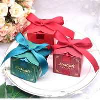 New 2019 Creative Candy Box Wedding Favors and Gifts Boxes Chocolate Box Bomboniera Giveaways Boxes Party Supplies