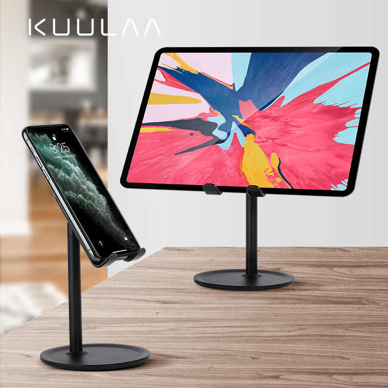 KUULAA Mobile Phone Stand Holder For IPhone IPad Air Smartphone Metal Desk Desktop Phone Mount Holder For Xiaomi Huawei Tablet