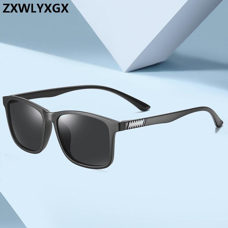 2020 vintage retro óculos de sol homem polarizado menos tr90 clássico piloto óculos de condução uv400 quadrado masculino