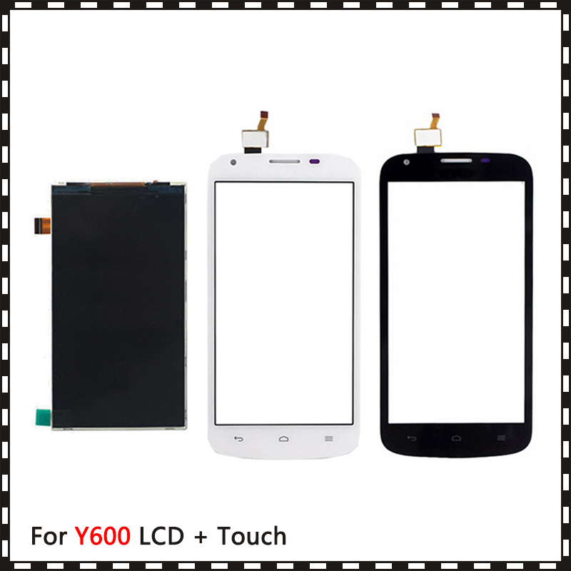 New High Quality 5.0'' For Huawei Ascend Y600 Lcd Display With Touch Screen Digitizer Sensor