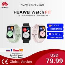 HUAWEI-reloj inteligente FIT versión Global, pulsera con animaciones de entrenamiento rápido, control de oxígeno en sangre, batería de 10 días de duración
