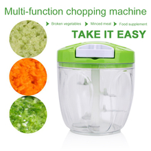 ABS Slicer Cutter Cooking Home Kitchen Tool Food Meat Grinders Convenient Vegetable Fruit Multifunctional 4 Blades bear portable electric meat grinders 2l 300w 2 gears glass mini blenders 4 blades copper engine meat cutter kitchen appliances