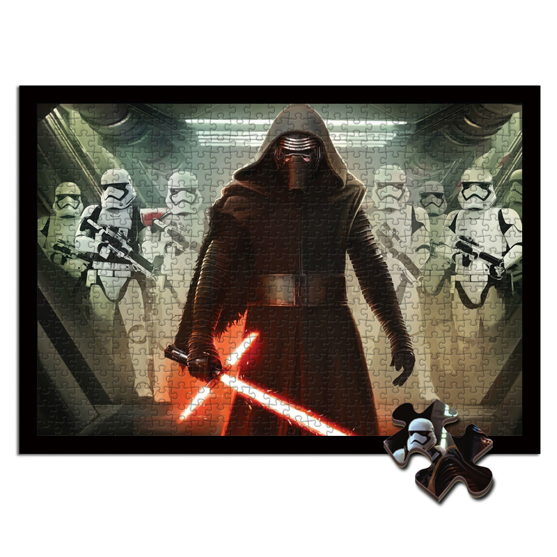 Star Wars Wooden Jigsaw Puzzle 1000 Pieces Black Knight White Knight Adult Stress Relief Toy Educational Toys  Juguetes