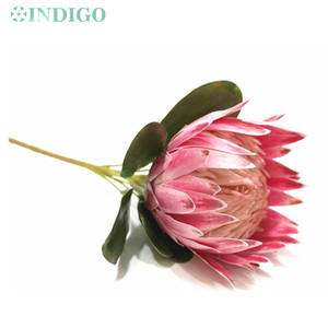 Image 4 - INDIGO  2 pcs Light Purple Protea cynaroides Large Size Real Touch Artificial Flower Wedding Flower Party Event Dropshipping
