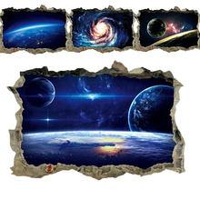 Creative 3D Universe Galaxy naklejki ścienne do sufitu okno dachowe naklejka dekoracja ścienna osobowość wodoodporna podłogowa naklejka