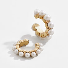 Fashion Trendy Jewelry Accessories Bijoux Pearl Metal Ear Cuff 2019 Popular Cuff Earrings for Women(China)