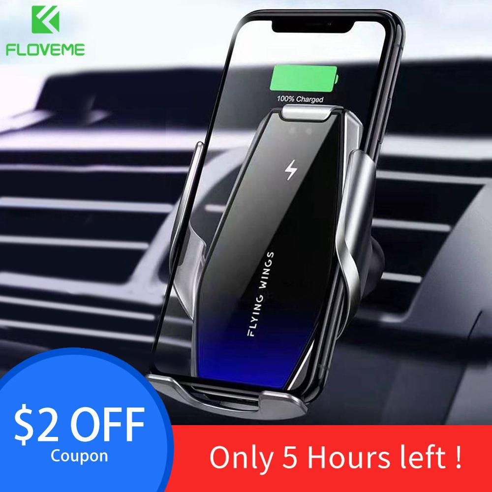 FLOVEME Phone Holder Wireless Charger For IPhone 11 Pro Max 7 8 11 Samsung S10 S9 S8 Air Vent Mount Car Phone Holder Phone Stand
