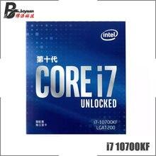 Processeur Intel Core i7-10700KF i7 10700KF 3.8 GHzEight, 16 threads, L2 = 2 mo, L3 = 16 mo, LGA 125, 1200 W, scellé mais sans refroidisseur