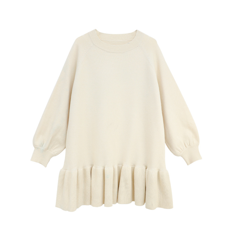 6Y To 16Y Kids And Teen Girls Cute Knitted Dress Fall Winter 2020 New Ruffled Princess Dress Brief Casual Children Dress, #9186