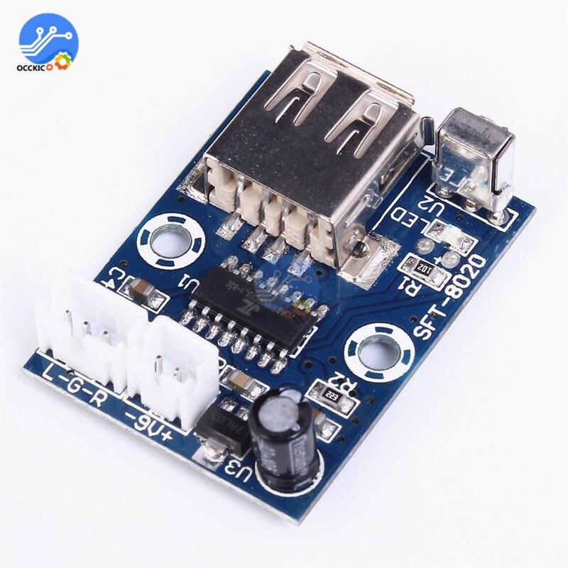 DAC Module MP3 WMA Decoder Board Audio Module USB TF Radio Decodificador Equipo De Sonido Decoder 12V Audio Module Speaker