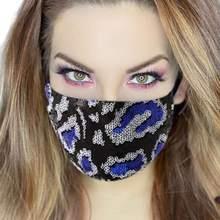 Masque de mode avec strass brillants, bijoux décoratifs pour femmes, mascarade respirante pour fête, couverture en cristal de luxe, 2020