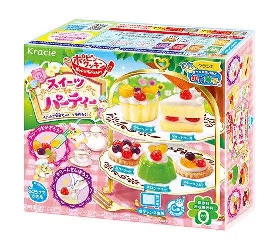 DIY Kracie Popin Cook Candy Dough Toys.Birthday Cake French Fries Dessert Happy Kitchen Japanese Making Kit