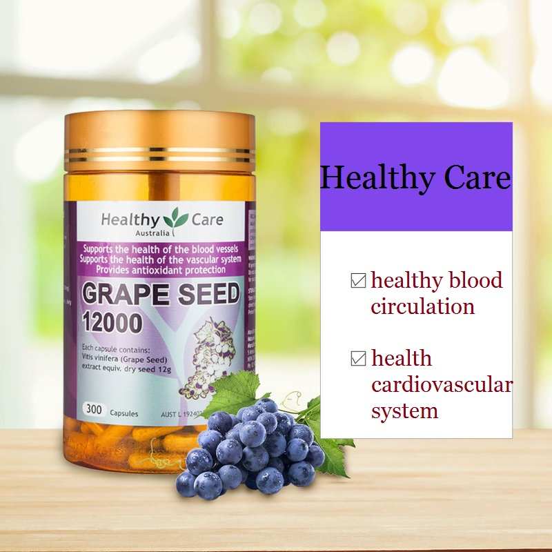 Australia Healthy Care Grape Seed Extract for Women Beauty Skin Care Capillaries Health Antioxidant Against free radical damage