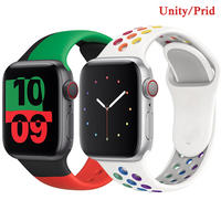 Cinturino in Silicone per cinturino Apple Watch 44mm 40mm 38mm 42mm nero unità/Prid smartwatch cinturino cinturino iWatch 3 4 5 6 se cinturino