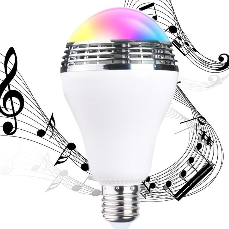 Беспроводной светодиод BT музыкальный светильник лампа с умным bluetooth динамиком многоцветное изменение приложения управление RGB подключение один к одному - 3