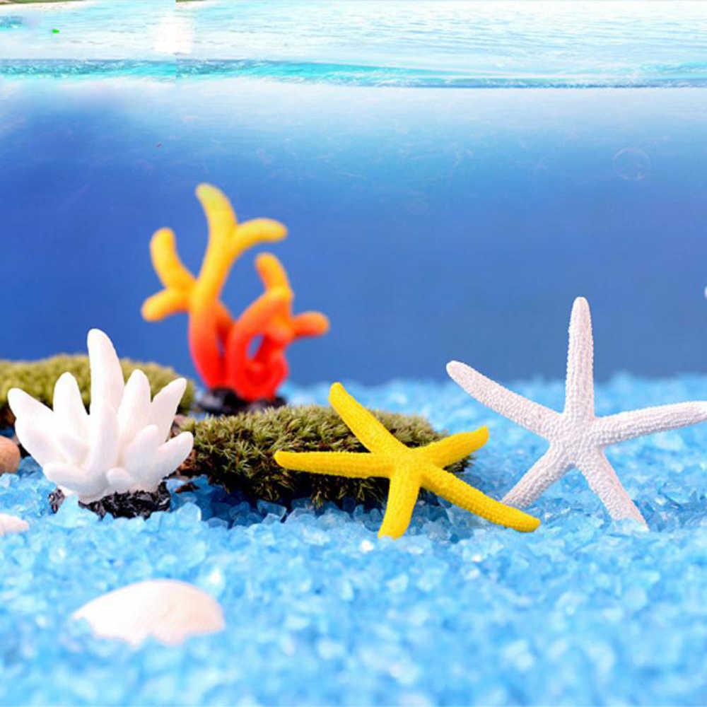 Mini Artificial Coral Reef Ornament Landscape Ornament For Fish Tank Colorful Resin Coral Aquarium Accessories