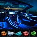 1M / 2M / 3M / 5M Auto Interieur LED dekorative Lampe EL Verkabelung Neonstreifen für Auto DIY flexible Umgebungslicht USB Party Atmosphäre Diode Billboard Zeichen Urlaub Dekoration Lichter