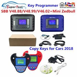 Car Keys Maker SBB Pro2 V48.99 V48.88 V46.02 Mini Zedbull Auto Key Programmer SBB Pro 2 48.99 48.88 Zed Bull OBD Key Transponder(China)