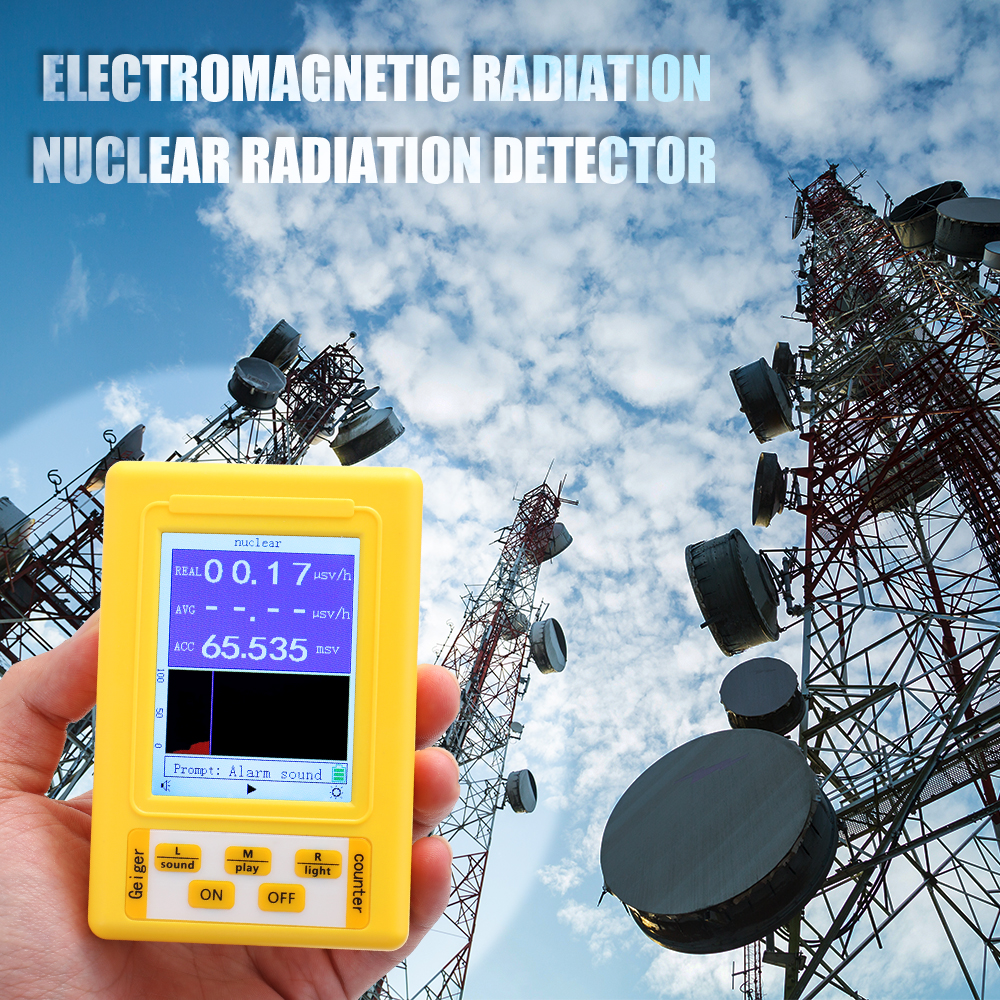 BR-9C 2-in-1 Handheld Digital Display Electromagnetic Radiation Nuclear Detector Geiger Counter Full-functional Type Tester