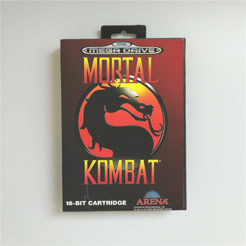 Mortal Kombat - EUR Cover With Retail Box 16 Bit MD Game Card for Megadrive Genesis Video Game Console 1
