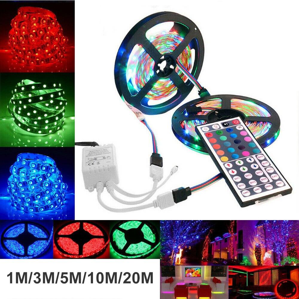LED Strip Light 2835 SMD DC5V Flexible Ribbon Fita Led Light Strip 1M 3M 5M 10M 20M Ribbon Tape Brighter Have Remote Control