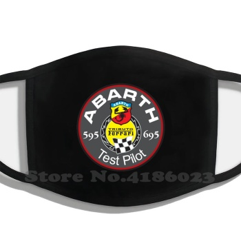 Abarth 595 695 Test Pilot Diy Adult Kids Mouth Mask Abarth Fiat 695 595 Rest Pilot Ferrari image