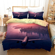 Airplane 3d Bedding Set Duvet Covers Pillowcases Children Room Decor Comforter Bedding Sets Bed Linen 03(China)