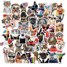 50PCS Various Animal Stickers Pack Cat Dog Koala Cool Styling Decal Sticker For DIY Stationery Bicycle Car Luggage Phone Laptop
