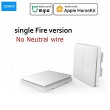 Aqara duvar anahtarı Zigbee kablosuz anahtarı anahtarı akıllı işık kontrolü tek yangın nötr akıllı ev APP veya Homekit uzaktan