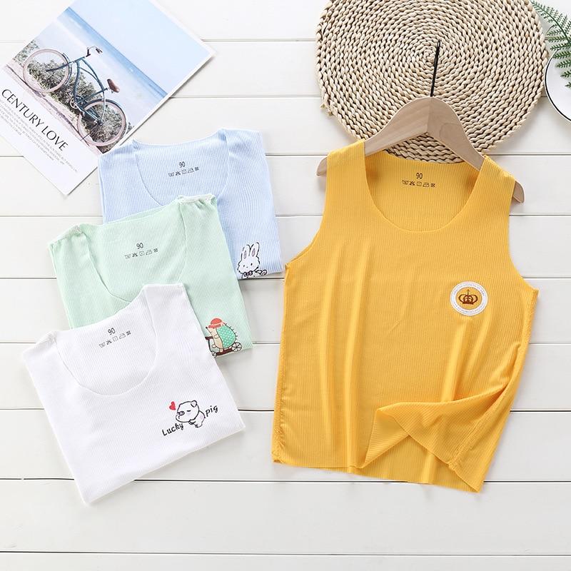 Undershirt Camisole Kids Underwear For Girls Summer Solid Cotton Toddler Boy Top Colored