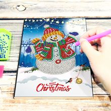 NEW Diy Creative Notebook Diamond Painting DIY Christmas Snowman Shaped Bright New 64 Page A5