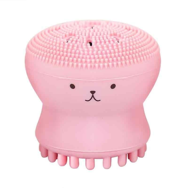 Rosa Octopus Silikon Reinigung Pinsel Gesicht Reiniger Pulver Puff Pinsel Reiniger Pinsel Tiefe Reinigung Gesichts Peeling Waschen Pinsel