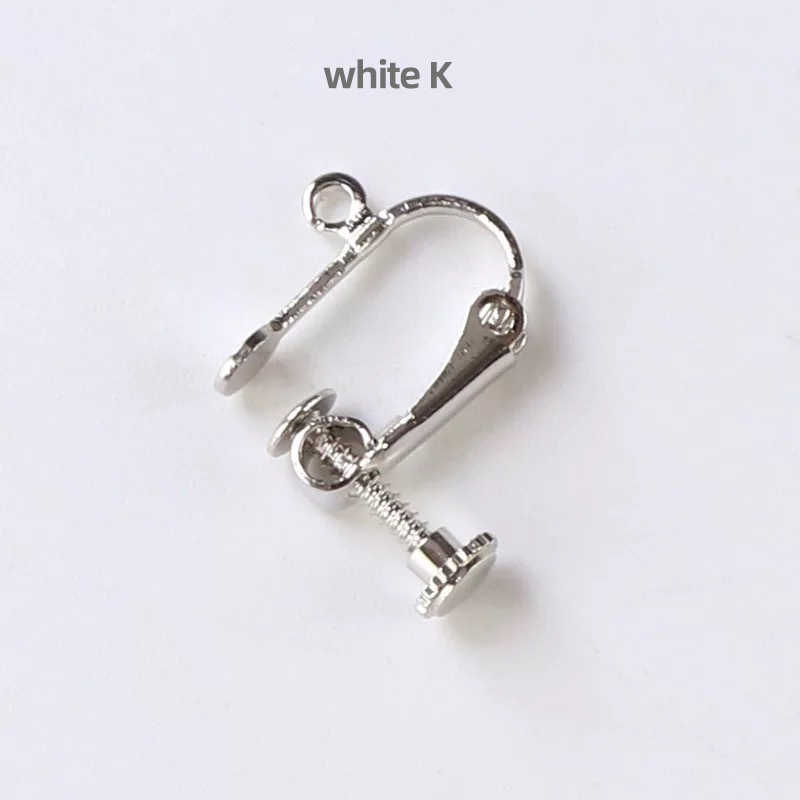 Tornillo clip de oreja sin orificio de oreja tornillo de oreja clip de oreja directo de fábrica venta de accesorios de aretes