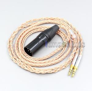 XLR 3 4-полюсный 6,5 мм 16 ядерный 7N OCC кабель для наушников для Hifiman Sundara Ananda HE1000se HE6se he400 3,5 мм контактный LN006859
