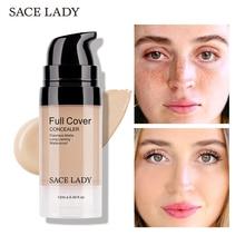 SACE LADY Face Concealer Cream Full Cover Makeup Liquid Facial Corrector Waterproof Base Make Up for Eye Dark Circles Cosmetic недорого