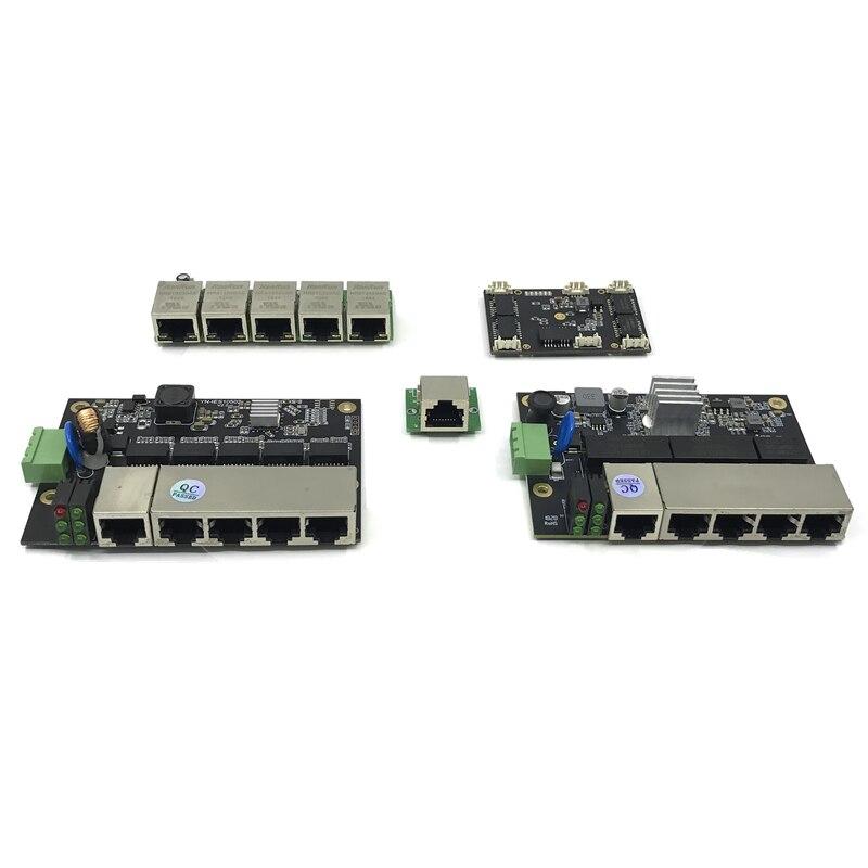 Неуправляемый 3/5 порт 10/100/1000M промышленный модуль коммутатора Ethernet PCBA плата OEM порт автоматического определения s PCBA плата OEM материнская плата,