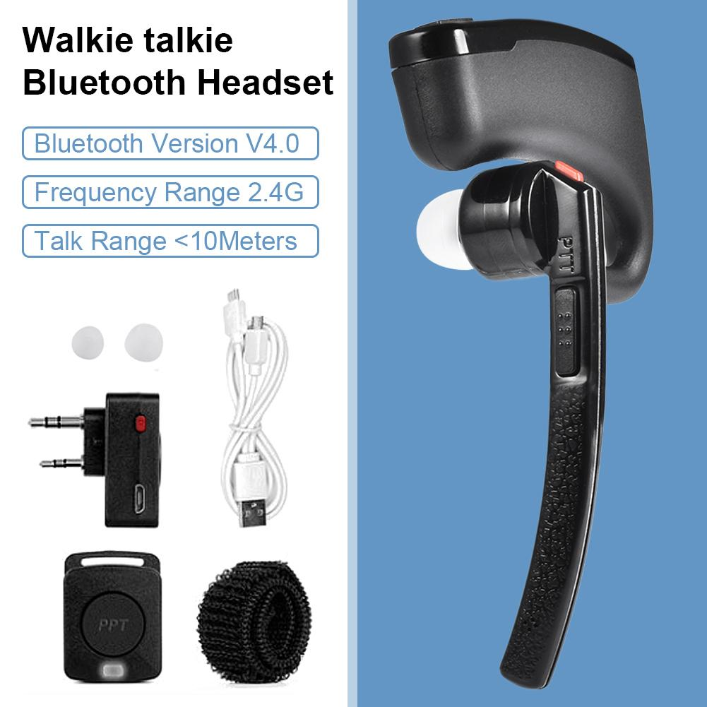 K-head Wireless Bluetooth Headset Handset Headset Automatic Pairing In-ear Headset Suitable For UV5R UV8 High Quality