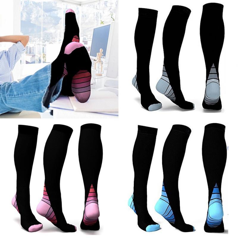 Men Sport Socks Compression Socks Breathable Travel Activities Fit For Nurses Shin Splints Flight Travel Socks 1 Pair