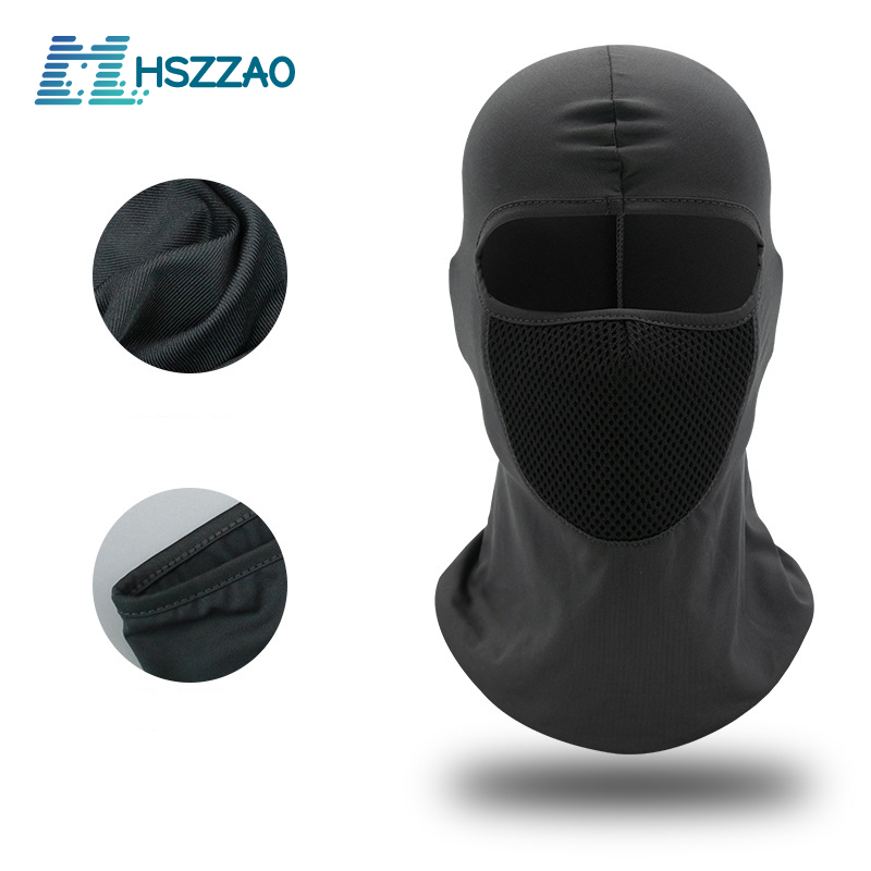 Motorcycle Sun protection and dustproof headgear riding hat hood windproof outdoor tactical riding hood mask mask dust mask