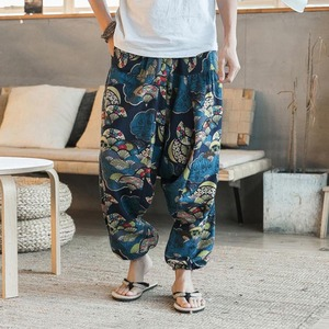 Harem Pants Men Hip-hop Women Plus Size Wide Leg Trousers Baggy Cotton Linen New Casual Vintage Long Pants Pantalon Hombre